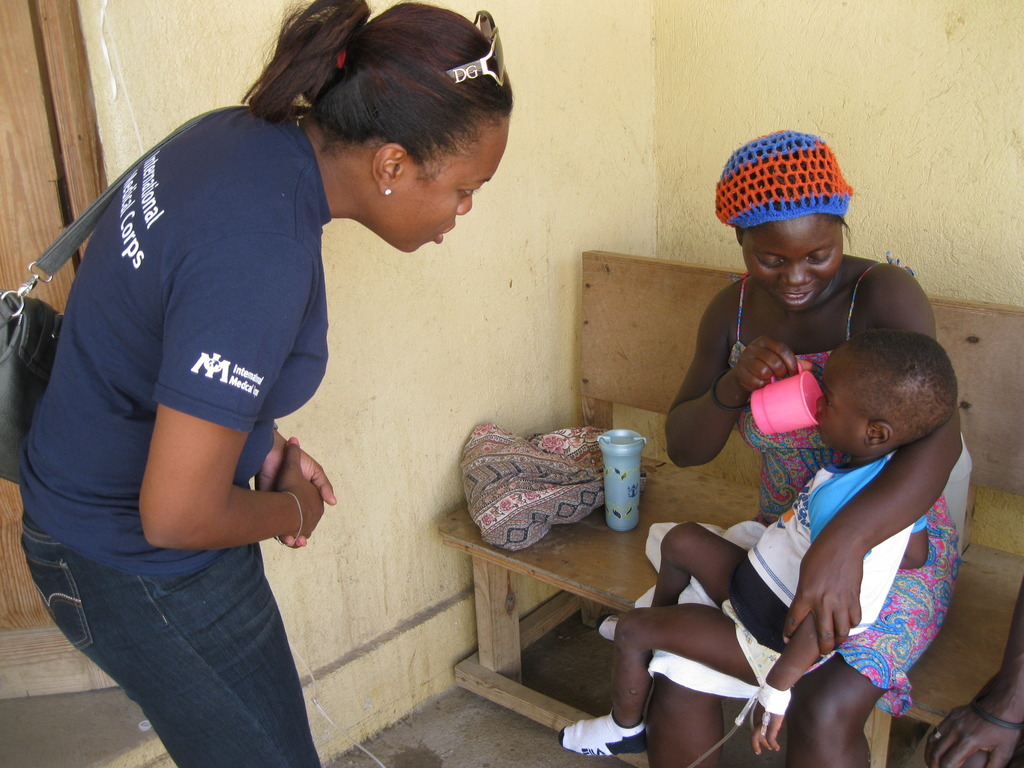 Child recovering from cholera