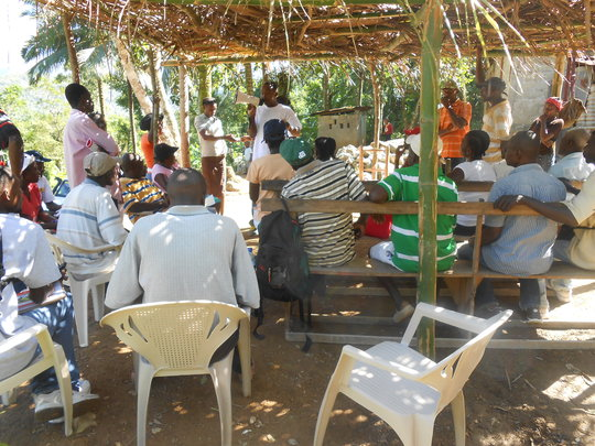 Hygiene education session for the community