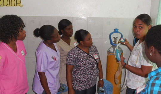 Cervical cancer screening and treatment training