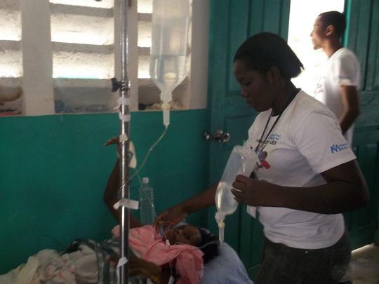 Evaluating a cholera patient