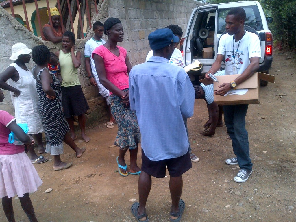 Educating locals about the dangers of cholera