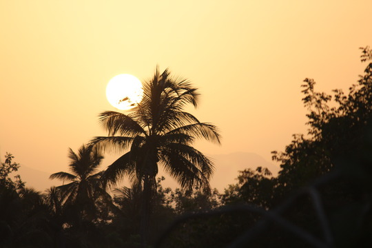 Sunrise over Fonfrede, Haiti