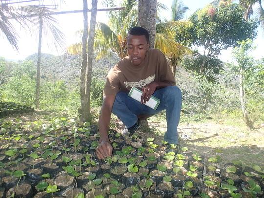 Community Member in his Nursery