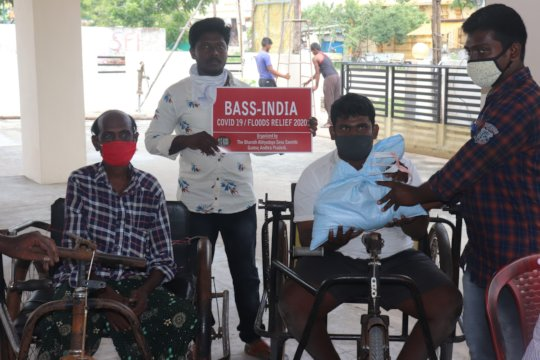 Ration kits supplies to Disabled