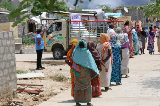 Covid Essential food distribution line wise