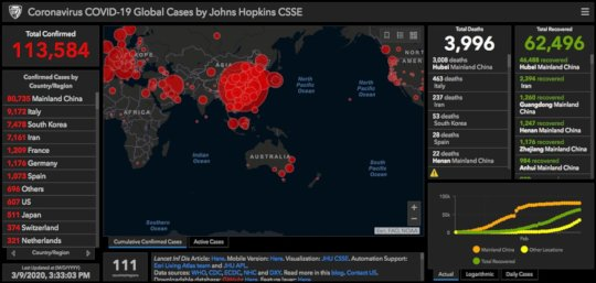 Global Case Map To Date