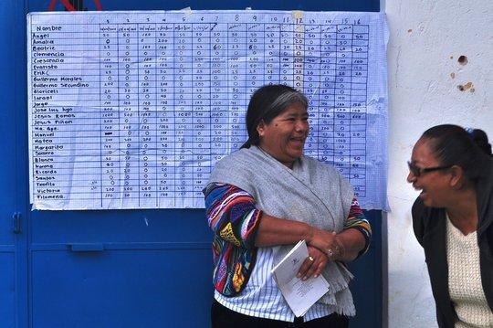 Bank member from Ixmiquilpan, Hidalgo