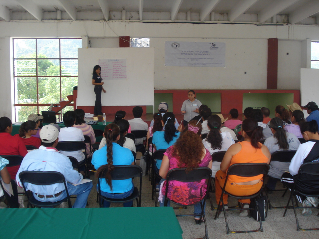 One of the skill-development workshops in Hidalgo