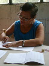 A program participant tallies savings.