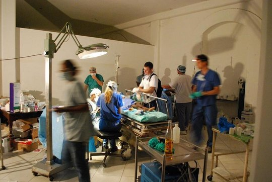 Operating room at the University Hospital in PaP