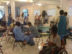 Triage Center in Cange, Haiti