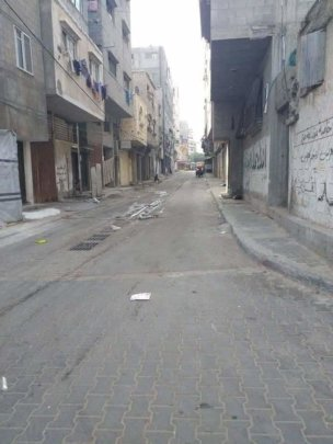 Now the streets are empty, Gaza in lockdown