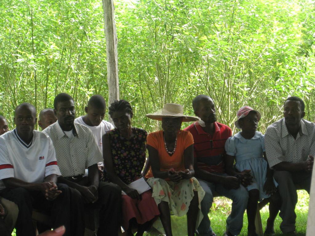 Members of local organizations meet with Lambi Fund