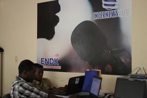 Internews' research staff in Port-au-Prince