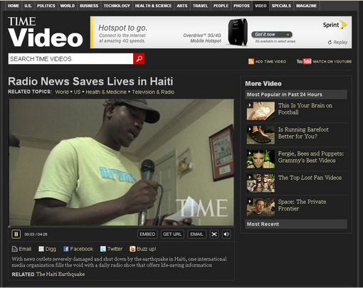 TIME video on radio news in Haiti