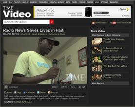 TIME video on radio news in Haiti