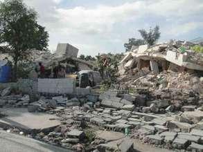 Earthquake destruction