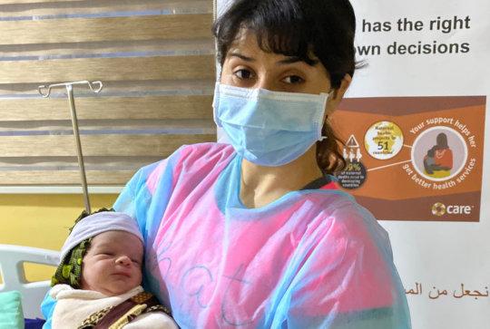 Dr. Mona with Amsha Hussein Mendo, Son/ Iraq
