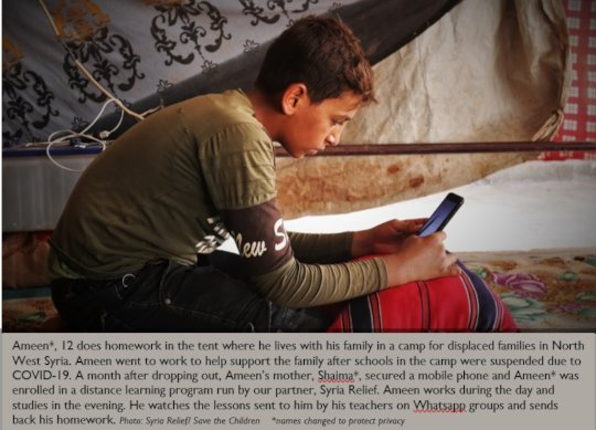 Ameen's learning continues, thanks to your support