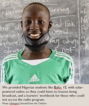 Bako's learning continues thanks to your support