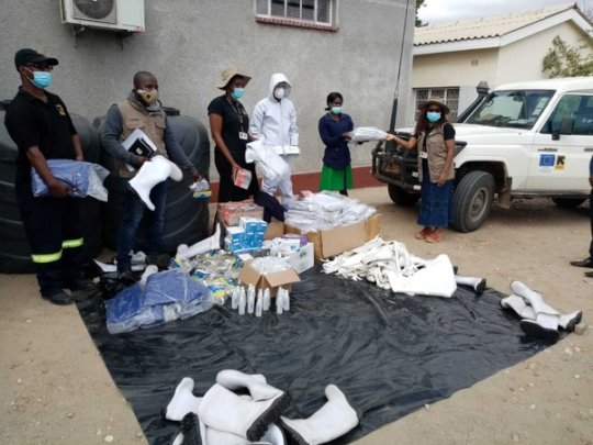 Distributing PPE in Zimbabwe