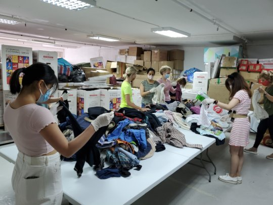 Volunteer Clothes Sorting 1