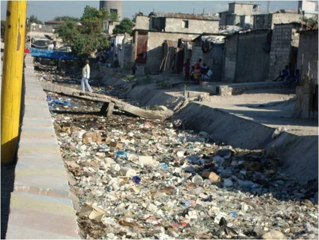 Haiti - Trash Waste in City Soleil