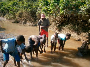 Haiti - Drinking & Bathing in River