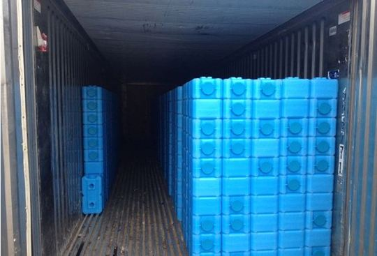 Ship Container filled with WaterBricks - Haiti