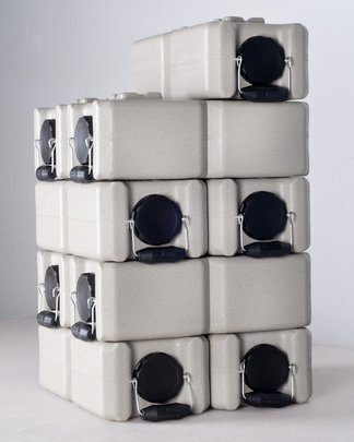 WaterBricks stack for water and food storage
