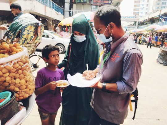 Outreach work in South Asia