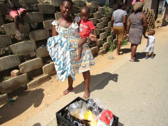 The food hamper will feed this family and others