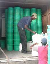 Buckets delivered to Leogane