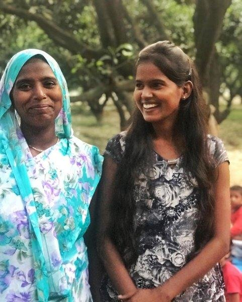 Poonam, the teacher, and her mother