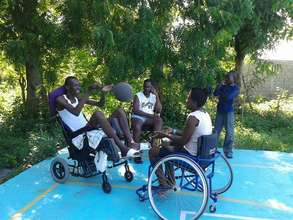 Patients from the rehab unit enjoying sports!