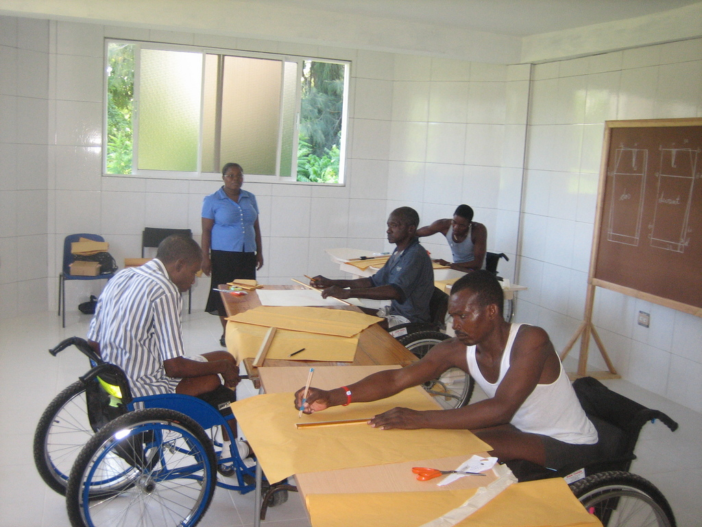 Vocational training at our temp rehab centre