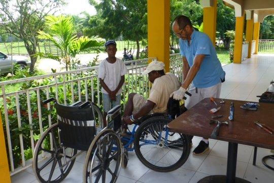 Wheelchairs donated by Swiss Paraplegic Foundation