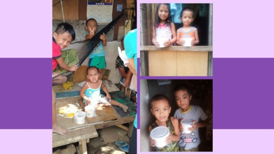 Some of the kids you helped feed