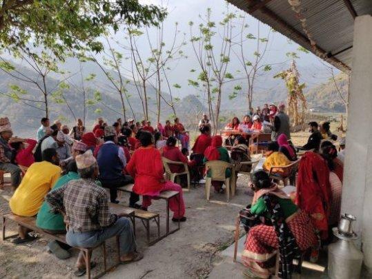 A community meeting in Lamjung