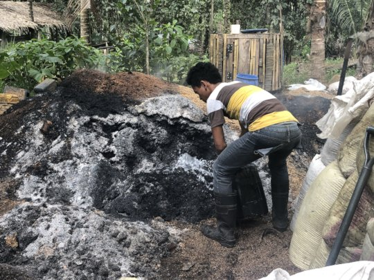 Producing organic fertilizer