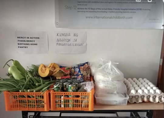 Mercy In Action pantry - all our clinics have this