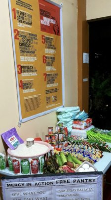 Mercy In Action pantry - take food or leave food