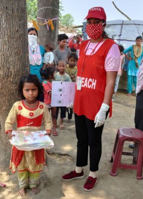 Distribution of Education materials by Outreach