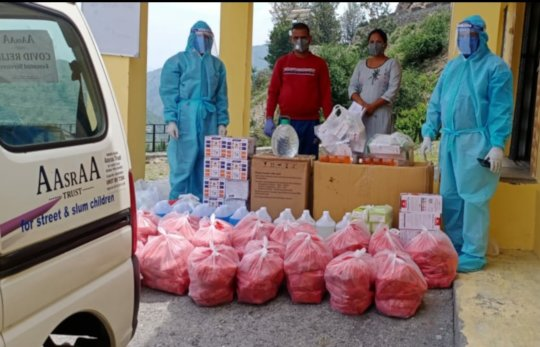 Delivery of Covid Relief Material