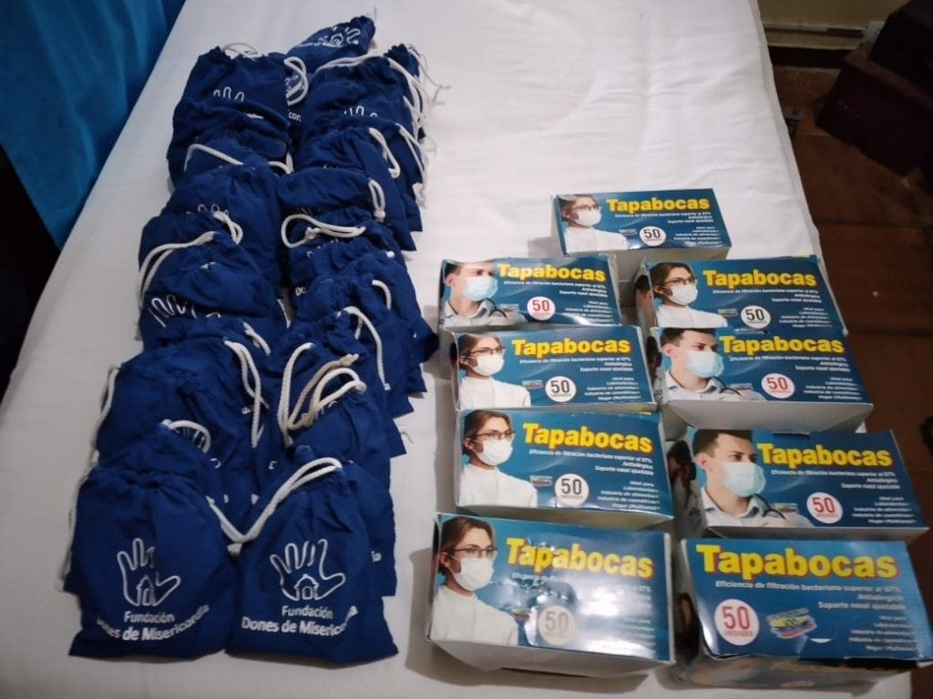 Personal Sanitization Goodie Bags and Face Masks