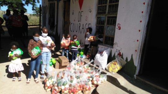 donating to children from our local preschool