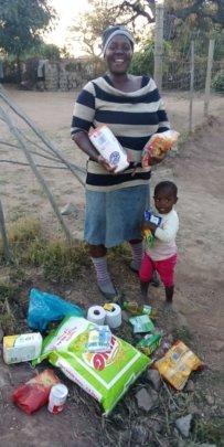 Food parcels - distributed door to door
