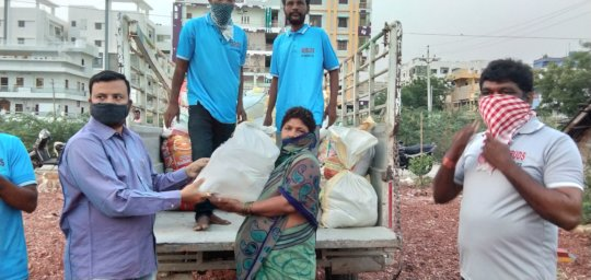 Combating Pandemic covid19 relief donation to poor
