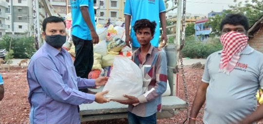 best charity india giving groceries donation poor