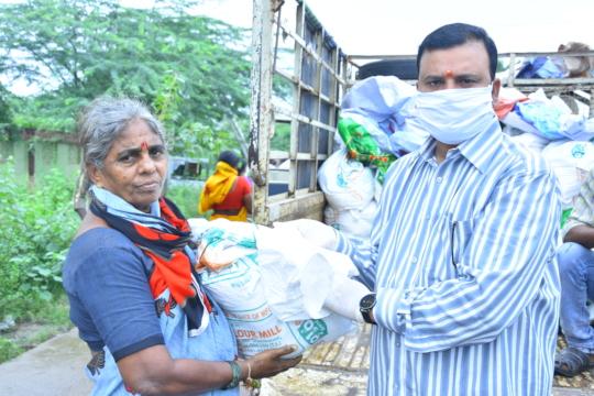 groceries kit donations for poor elderly people